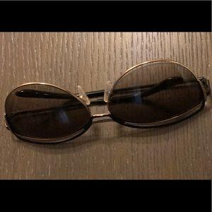 Ted Baker Cat Eye Black & Gold Sunglasses